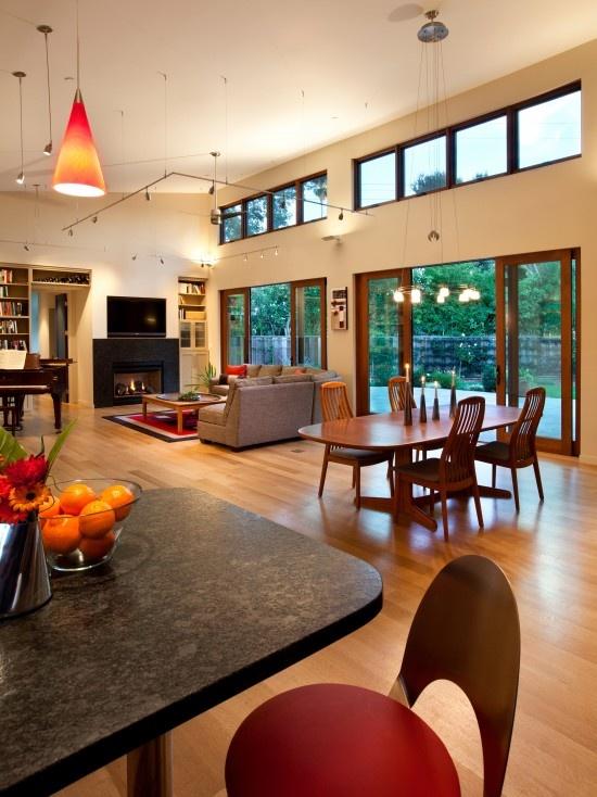 Kitchen And Living Room Interior Design