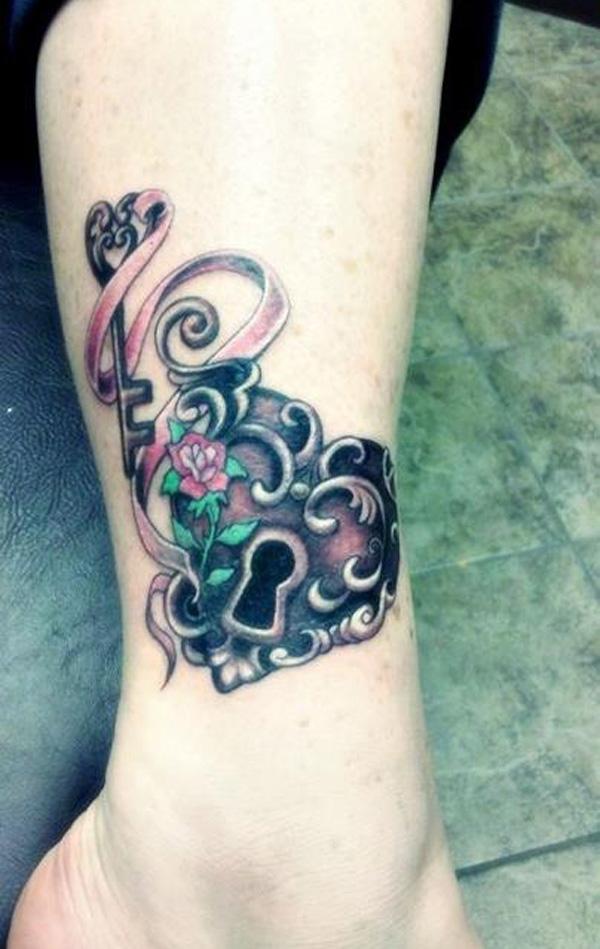 Impressive Lock and Key Tattoos