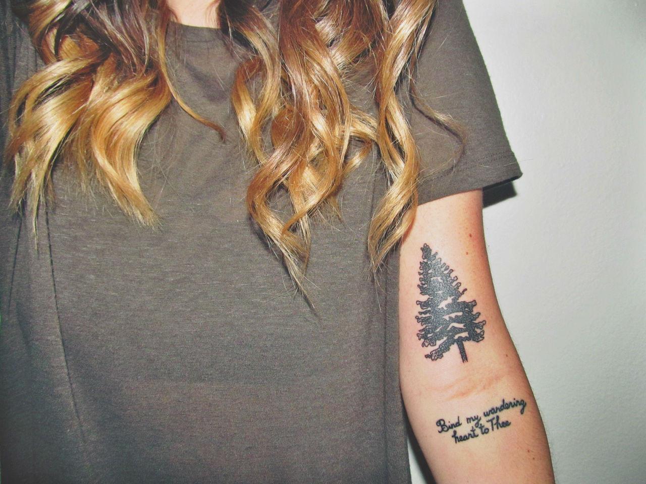 22 Photos of Mystical Pine Tree Tattoos - Sortra