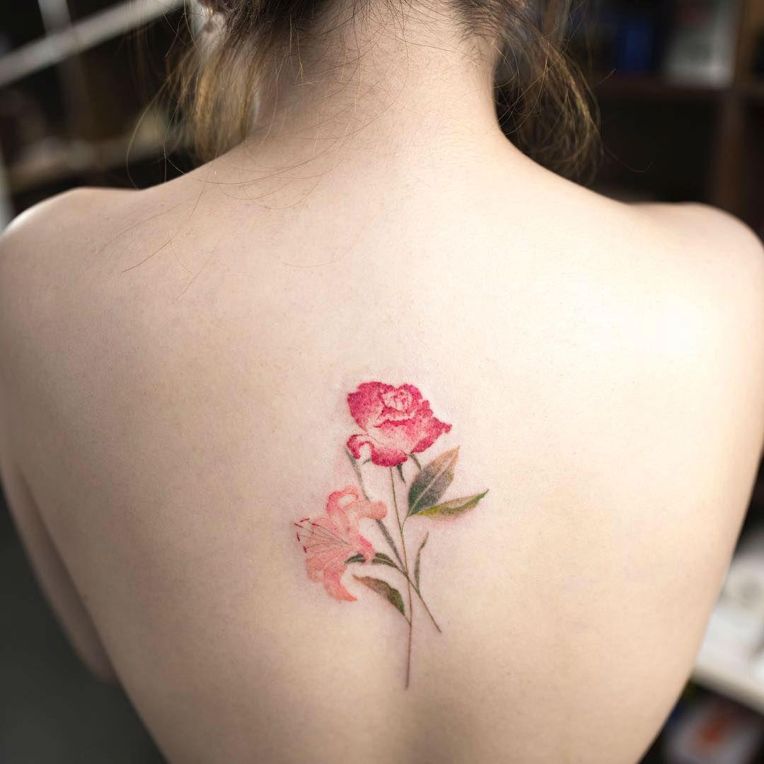 15 Nature Watercolor Tattoos By Hongdam